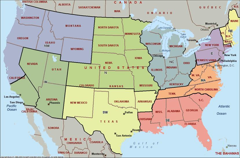 Map Of Us Showing Lieutenancy Territories